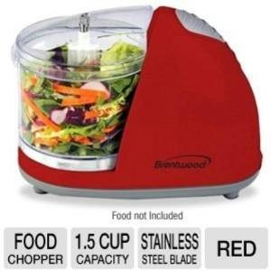 Brentwood MC-105 Red Mini Food Chopper