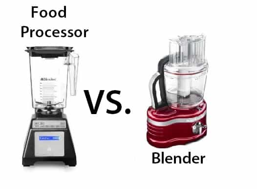 food processor vs blender
